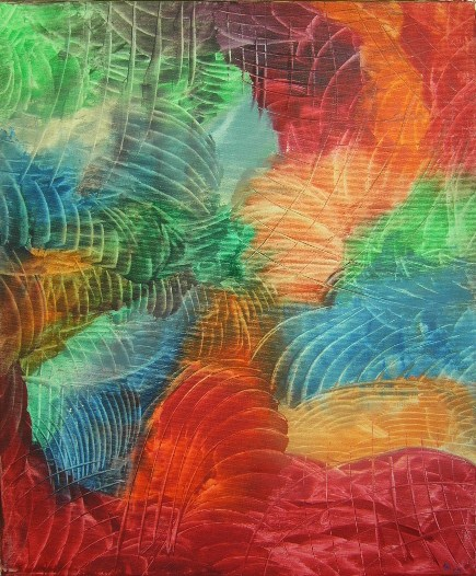 Farbharmonie auf Leinwand 50x60cm 2009