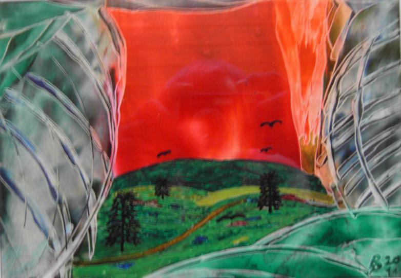 Kleinbild Tiefes Abendrot 14,5x20,3cm/21x30cm 2011