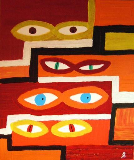 Augenblicke Acryl auf Leinwand 50x60cm 2008