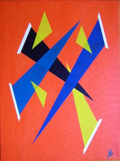Dreiecke Acryl auf Leinwand 30x40cm 2008