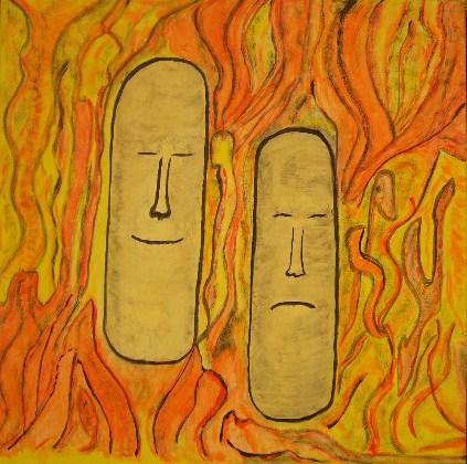 Stimmungen Acryl auf Leinwand 50x50cm 2007