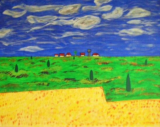 Toscana Acryl auf Leinwand 40x50cm 2006