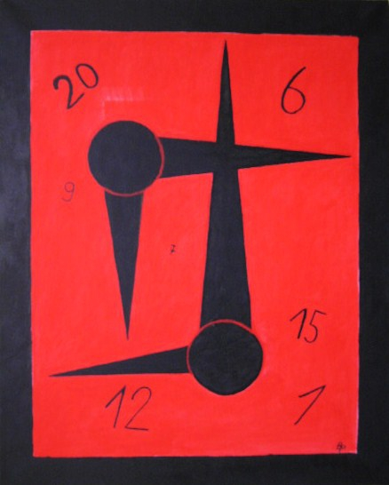 Zeitzeiger Acryl auf Leinwand 40x50cm 2006