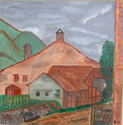 Hof Acryl auf Leinwand 50x50cm 2009