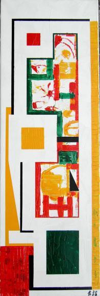 One Acryl auf Leinwand 30x90cm 2009