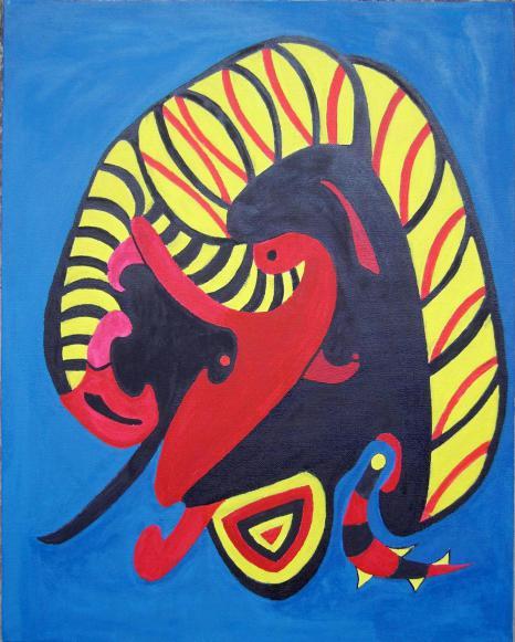 Verfangen Acryl auf Leinwand 40x50cm 2007
