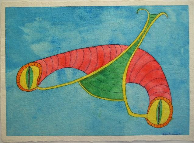 Saltatoria Aquarell auf Büttenpapier 25x35cm/30x40cm 2007