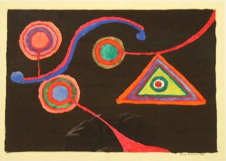 Geometrie Aquarell auf Papier 21x30cm 2000