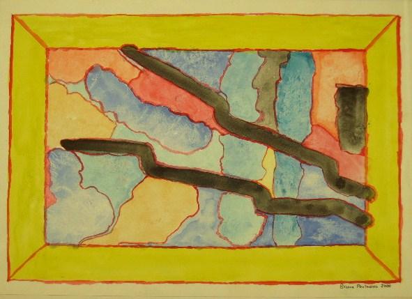Blitze Aquarell auf Papier 21x30cm 2000