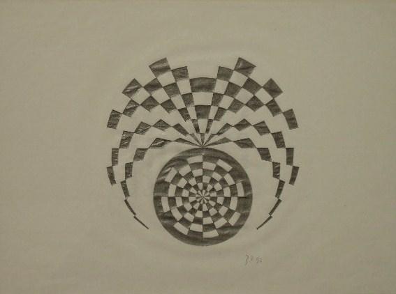 Mandala Bleistiftzeichnung 21x30cm 1997