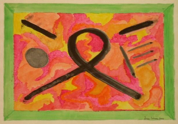 Wünschelrute Aquarell auf Papier 21x30cm 2000