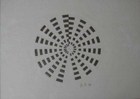 Mandala Bleistift auf Papier 21x30cm 1997