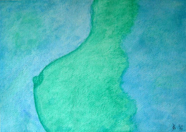 Busen Aquarell auf Büttenpapier 25x35cm/30x40cm 2010