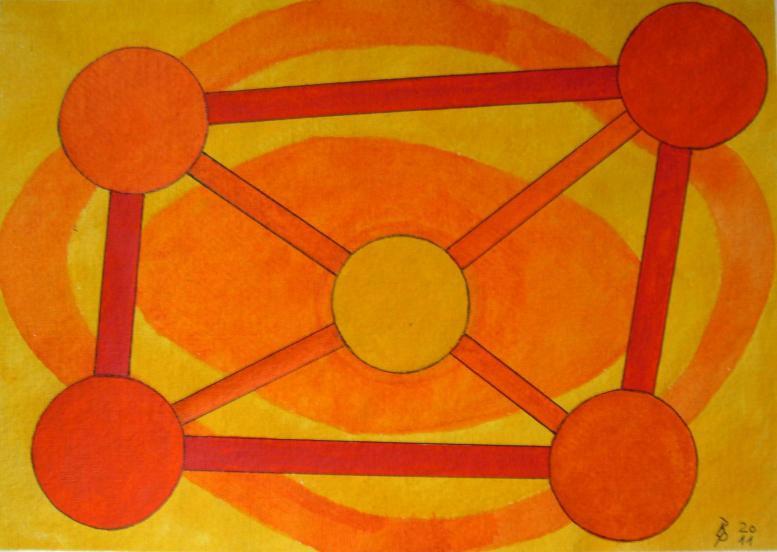 Geometrie 4 Aquarell auf Büttenpapier 25x35cm/30x40cm 2011