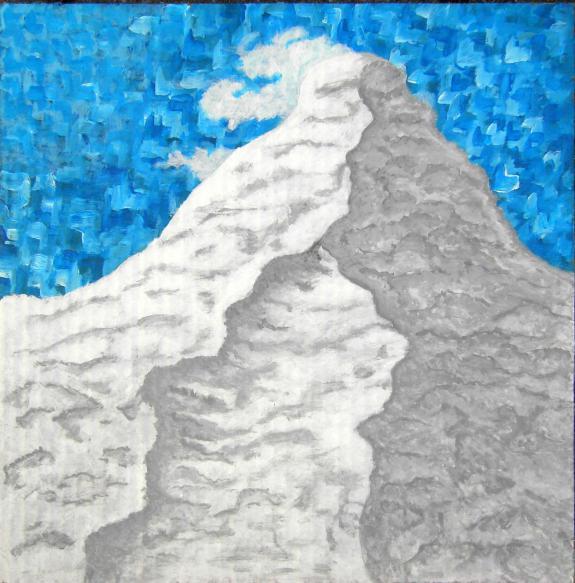 Der Berg ruft Aquarell auf Karton 29x29cm/50x50cm 2011