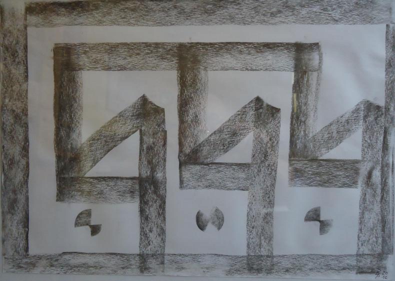 Kohlebild 2 30x41cm/40x50cm2012