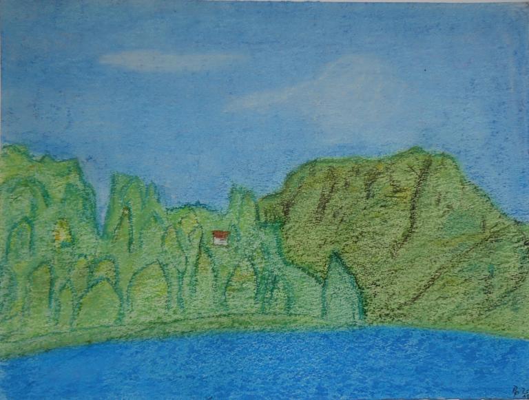 Pastellbild am Brienzersee 24x32cm/40x50cm 2011