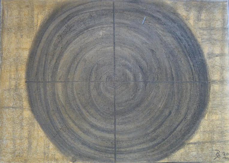 Pastellbild Zielscheibe 30x42cm/40x50cm 2011