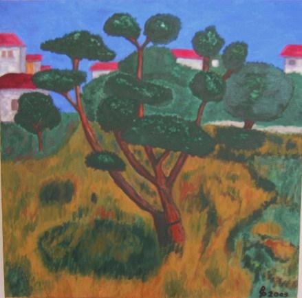 Toscana Oel auf Leinwand 50x50cm 2009