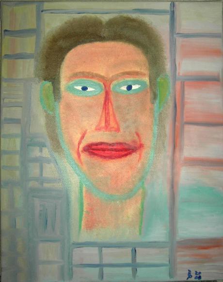Der Kollege Oelbild auf Leinwand 40x50cm 2009